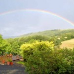 Rainbows and Sunsets at Basel Holiday Cottage in Llandovery, Wales