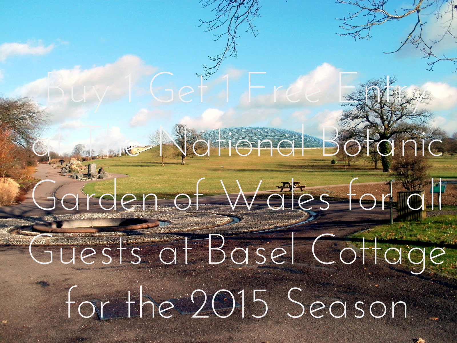 Special Offers at The National Botanic Garden of Wales for Guests at Basel Holiday Cottage in Llandovery, Carmarthenshire