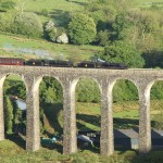 Steam Train Travelling Over The Cynghordy Viaduct Close to Basel Holiday Cottage in Llandovery